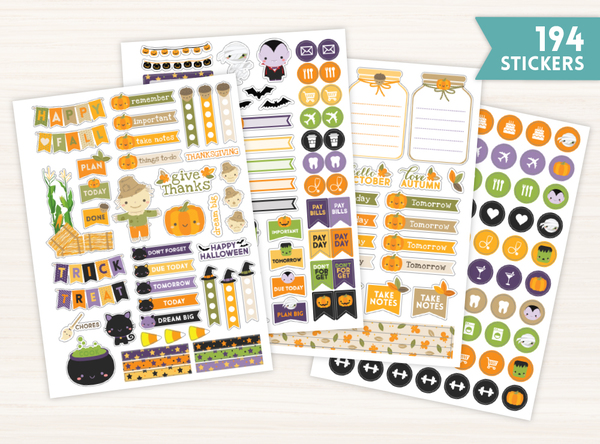 October & Halloween Sticker Set