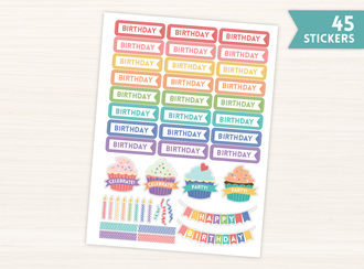 Birthday Flag Stickers