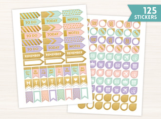 Pastel Banners Sticker Set