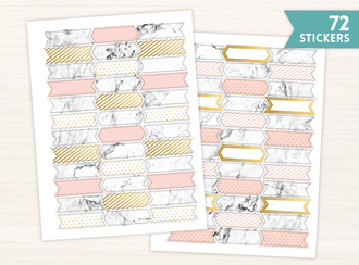 Elegant Marble Planner Sticker Set