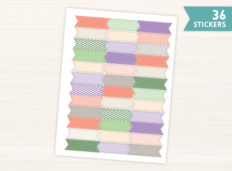 Succulent Color Banner Stickers