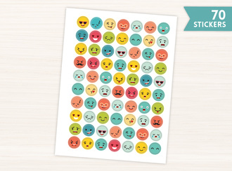 Emoji Circle Stickers