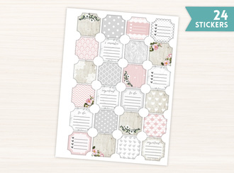 Soft Pattern Floral Ticket Frame Stickers