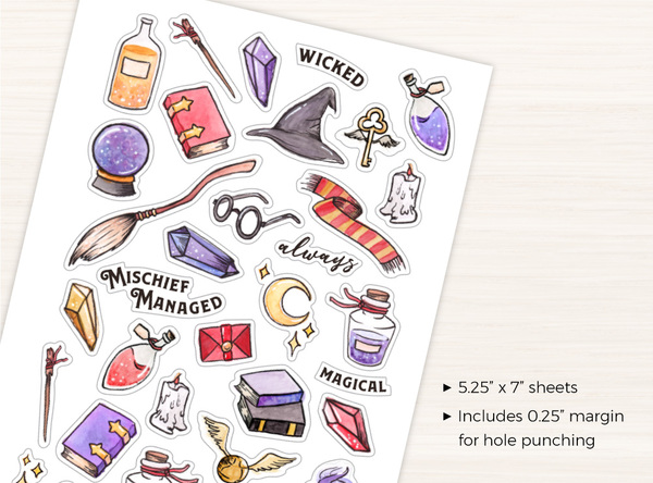 Whimsical Wizard Stickers