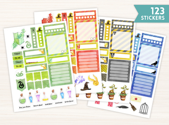 Wizard School Watercolor Sticker Set