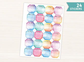 Watercolor Ticket Frame Stickers