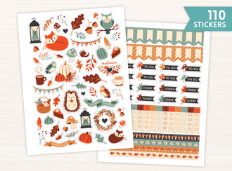 Autumn Woodland Sticker Set