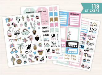 Playful Pastel Planner Sticker Set