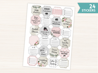 Blush Wedding Stickers