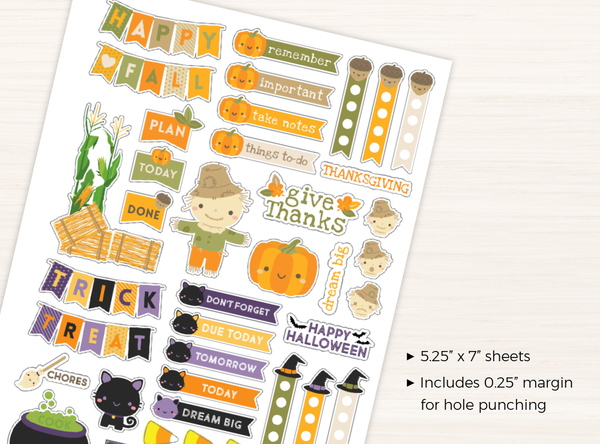 Halloween & Fall Stickers