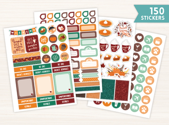 Thanksgiving & Fall Sticker Set