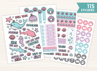 Dapper Ocean Creatures Sticker Set