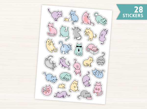 Cute Kitty Stickers
