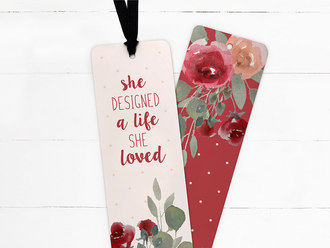Watercolor Floral Ribbon Bookmark