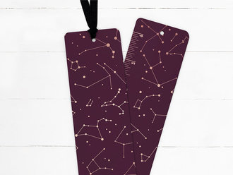 Rose Gold Constellations Ribbon Bookmark