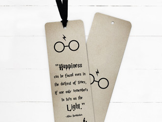 Turn On The Light Quote Ribbon Bookmark