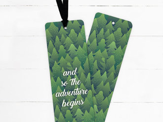Evergreen Mountains Ribbon Bookmark