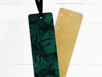 Tropical Palms Foliage Pattern Ribbon Bookmark