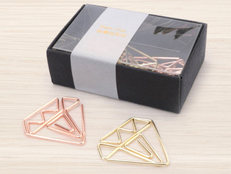 Golden Diamond Paper Clips