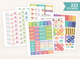 Homeschool Planner Sticker Set