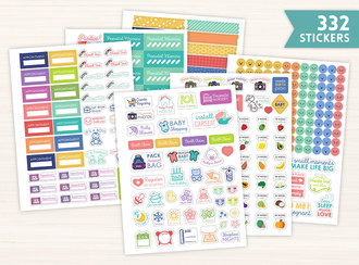Pregnancy Planner Sticker Set