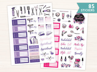 Purple & Pink Stylist Planner Sticker