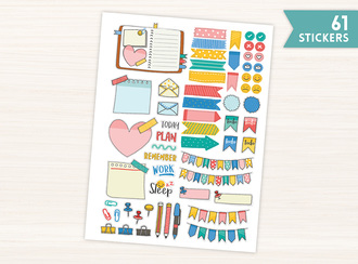 Colorful Planning Stickers