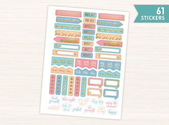 Fun Pastel Planner Stickers