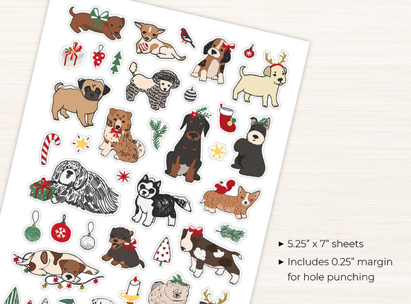 Holiday Dogs Stickers