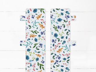 Modern Floral Print Snap-in Bookmark
