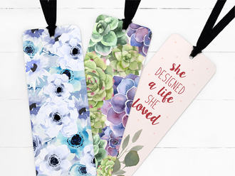 Floral Ribbon Bookmark Set