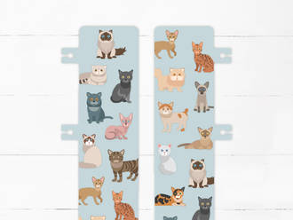 Cats Snap-in Bookmark