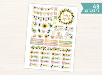 Spring Sunflowers Planner Sticker
