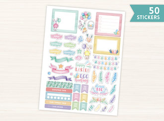 Watercolor Easter Planner Stickers