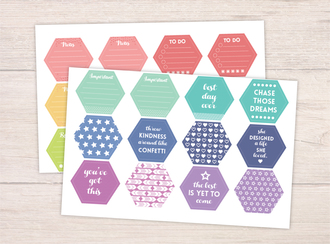 Everyday Hexagon Planner Stickers
