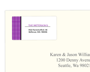Purple Disco Party Address Label