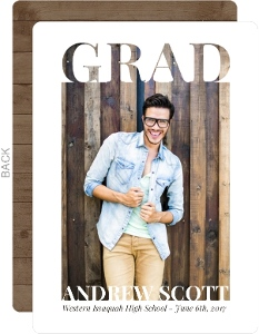 Grad Cutout Frame Graduation Party Invitation