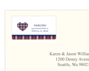 Country Plaid Address Label