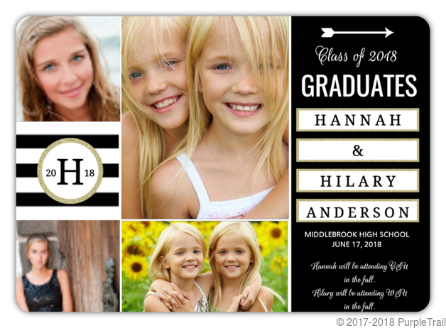 Joint graduation party invitations twin graduation announcements joint graduation party invitations stopboris Images