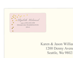 Gold Faux Foil Confetti Address Label