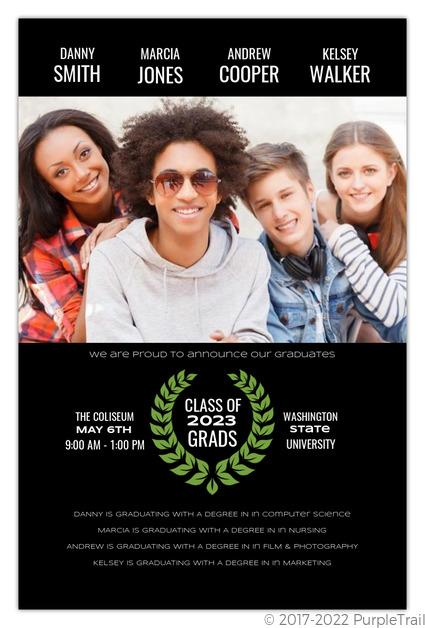 Movie Poster Joint Friends Graduation Annoucement