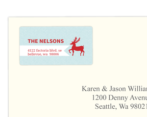 Red Reindeer Address Label
