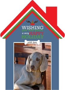 Dog Christmas Wishes Christmas Card Magnet