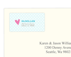 Bright Colorful Address Label