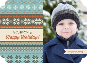 Christmas Sweater Holiday Photo Card Magnet