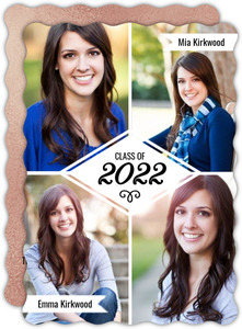 Quad Photo Collage Joint Graduation Announcement