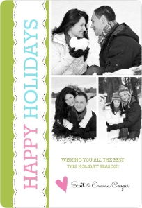 Bright Christmas Holiday Photo Card Magnet