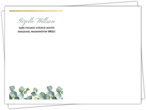 Greenery Watercolor Foliage Custom Envelope