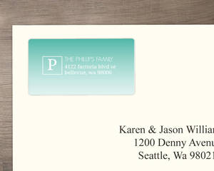 Turquoise Happy Everything Address Label