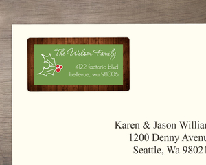Rustic Holly Address Label